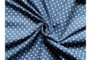tmavě modrá košilová džínovina 2078 s puntíky