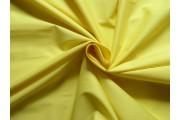 bavlněný strečový popelín žlutý