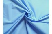 bavlněný strečový popelín světle modrý