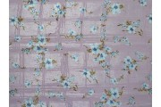 růžová hedvábná šatovka 2138 s květy