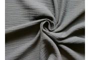 krešovaná bavlněná látka 124 černá