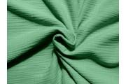 krešovaná bavlněná látka 902 zelená