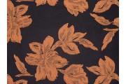 černá kostýmovka 2159 oranžové květy