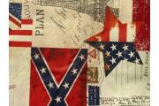 bavlněná látka 2426 s potiskem vlajek