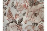 krémová bavlněná látka 2426 s růžemi