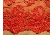 elastická krajka 2441 červená