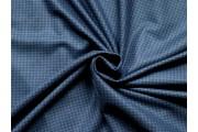 vlněná kostýmovka v barvě indigo 2192 s kohoutí stopou