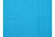 modrá bavlněná látka puntík