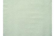 bílá bavlněná látka zelený puntík 47