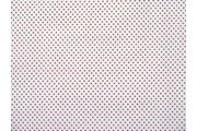 bílá bavlněná látka puntík fuchsia 50