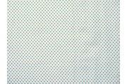 bílá bavlněná látka modrý puntík 51