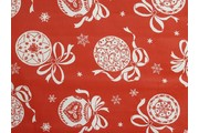 bavlna christmas 190 červená