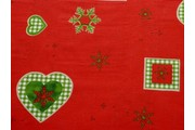 vánoční bavlna 3222 červená
