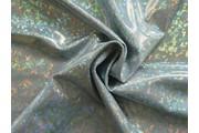 látka s hologramem stříbrná