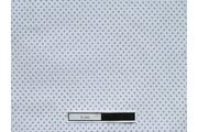 bílá bavlněná látka fialový puntík