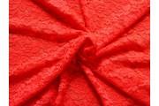 Krajky - elastická krajka 25 červená