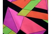 úplet plavkovina geometrické tvary růžová