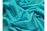 elastický tyl tyrkysový s leskem