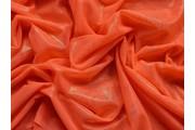 elastický tyl oranžový s leskem