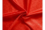 žakárová podšívka cachemire 810 červená