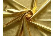 společenská látka metalic zlatá