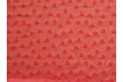 tyl 3765 červený se srdíčky